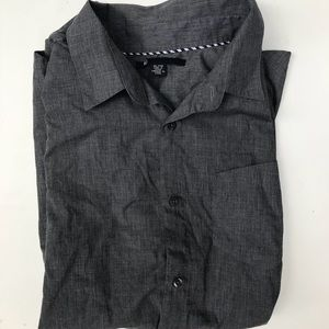 Volcom Gray Button Down Shirt